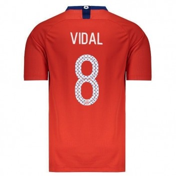Camisa Nike Chile Home 2018 8 Vidal