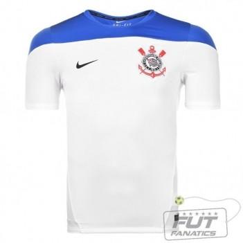Camisa Nike Corinthians Treino Squad 2014 Branco
