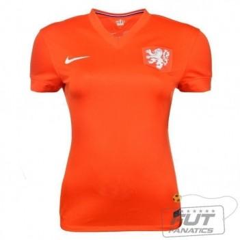 Camisa Nike Holanda Home 2014 Feminina