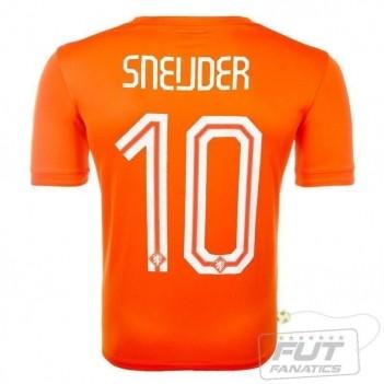 Camisa Nike Holanda Home 2014 10 Sneijder