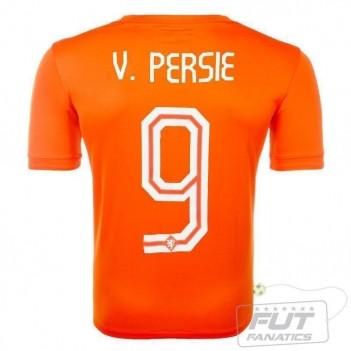 Camisa Nike Holanda Home 2014 9  V. Persie