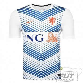 Camisa Nike Holanda Pré Match Squad 2014