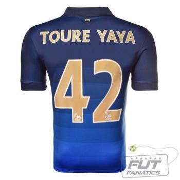 Camisa Nike Manchester City Away 2015 42 Toure Yaya
