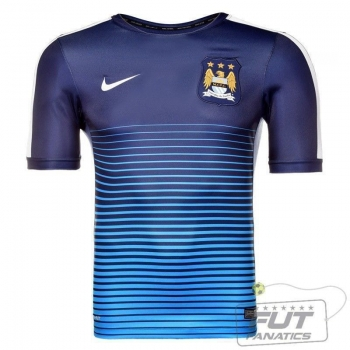 Camisa Nike Manchester City Squad Pre Match 2015