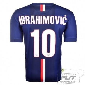 Camisa Nike PSG Home 2015 10 Ibrahimovic UCL