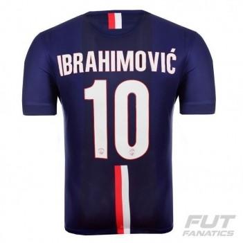 Camisa Nike PSG Home 2015 Jogador 10 Ibrahimovic UCL