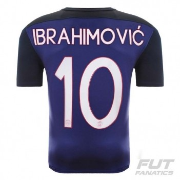 Camisa Nike PSG Home 2016 10 Ibrahimovic UCL
