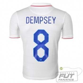 Camisa Nike USA Home 2014 Dempsey 8