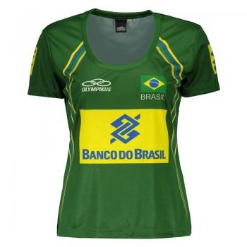 Camisa Olympikus Brasil Vôlei CBV 2014 Feminina Verde