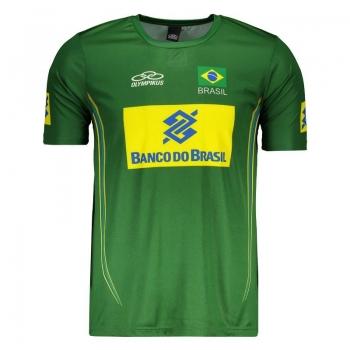 Camisa Olympikus Brasil Vôlei CBV 2014 Verde