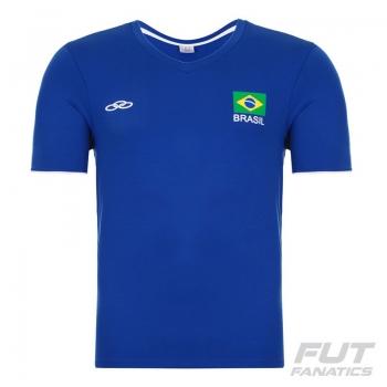 Camiseta Olympikus Brasil Vôlei CBV 2016 Azul