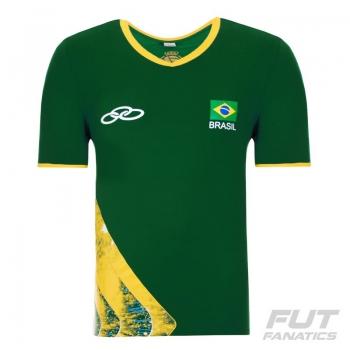 Camisa Olympikus Brasil Vôlei CBV 2016 Verde