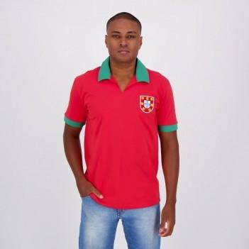Camisa Portugal Retrô Nº9 Vermelha