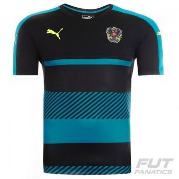 Camisa Puma Áustria Treino 2016 Preta
