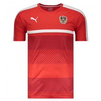 Camisa Puma Áustria Treino 2016 Vermelha