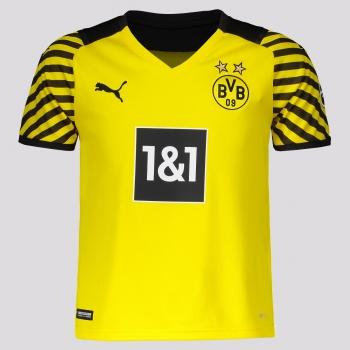 Camisa Puma Borussia Dortmund Home 2022 Juvenil
