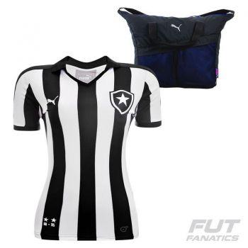 Camisa Puma Botafogo I 2015 Feminina + Bolsa Ginástica
