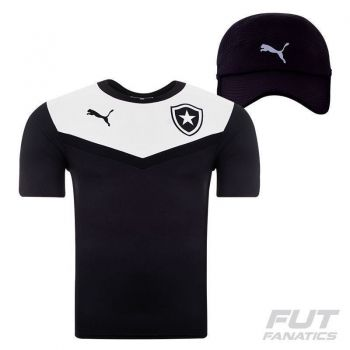 Camisa Puma Botafogo Treino 2015 Preta + Boné Preto