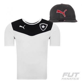 Camisa Puma Botafogo Viagem 2015 Branca + Boné
