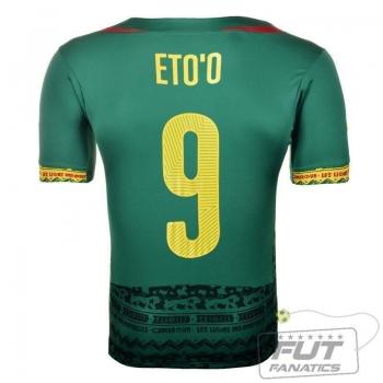 Camisa Puma Camarões Home 2014 Eto'o 9