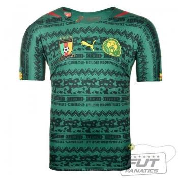 Camisa Puma Camarões Home 2014 Juvenil