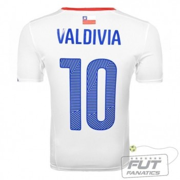 Camisa Puma Chile Away 2014 Valdivia 10
