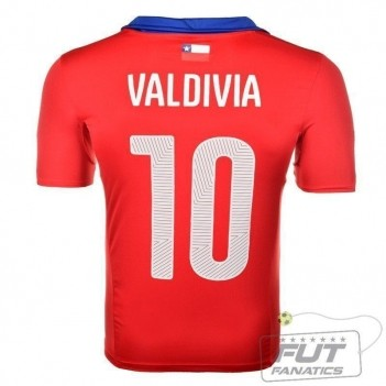 Camisa Puma Chile Home 2014 10 Valdivia