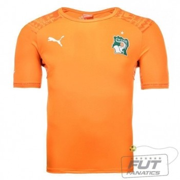 Camisa Puma Costa do Marfim Home 2014 Juvenil