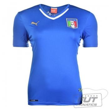 Camisa Puma Itália Home 2014 Feminina
