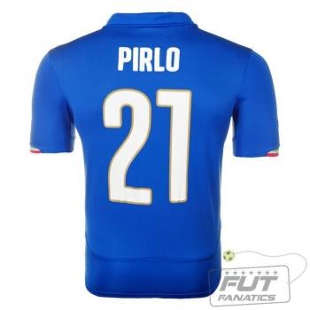 Camisa Puma Itália Home 2014 21 Pirlo