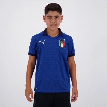 Camisa Puma Itália Home 2021 Juvenil