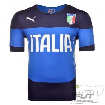 Camisa Puma Itália Treino 2014 Azul
