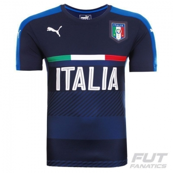 Camisa Puma Itália Treino 2016 Marinho