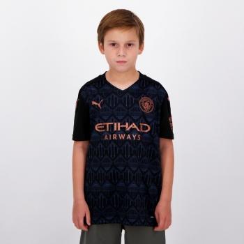 Camisa Puma Manchester City Away 2021 Juvenil