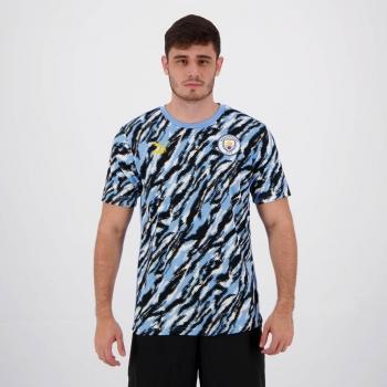 Camisa Puma Manchester City Graphic Azul e Preta