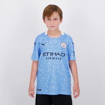Camisa Puma Manchester City Home 2021 Juvenil