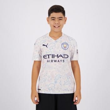 Camisa Puma Manchester City Third 2021 Juvenil