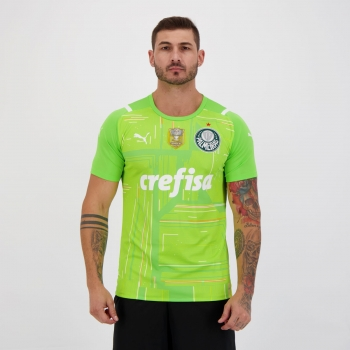 Camisa Puma Palmeiras Goleiro II 2021 Campeão Copa do Brasil 2020