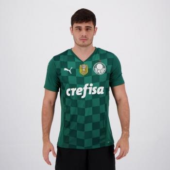 Camisa Puma Palmeiras I 2021 Campeão Copa do Brasil 2020