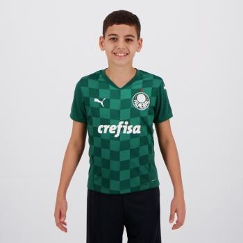 Camisa Puma Palmeiras I 2021 Juvenil