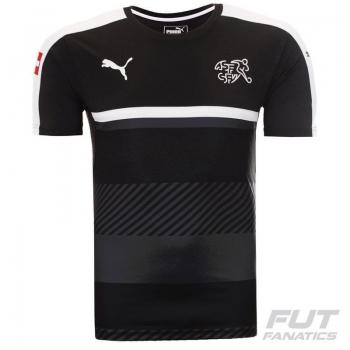 Camisa Puma Suíça Treino 2016 Preta