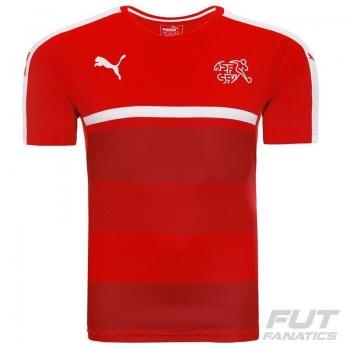Camisa Puma Suíça Treino 2016 Vermelha