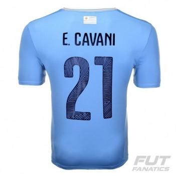 Camisa Puma Uruguai Home 2015 21 E. Cavani Copa América