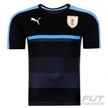 Camisa Puma Uruguai Treino 2016 Preta