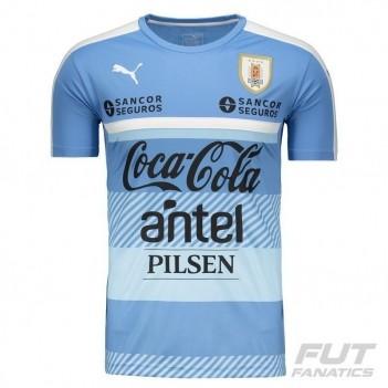 Camisa Puma Uruguai Treino 2016 Azul com Patrocínio