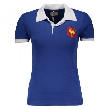 Camisa França Retrô 1980 Rugby Feminina