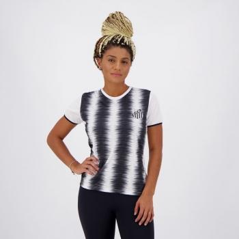 Camisa Santos Part Feminina Branca