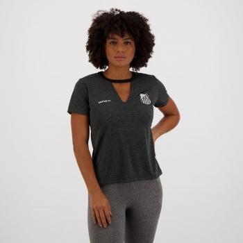 Camisa Santos Pilus Feminina Chumbo Mescla