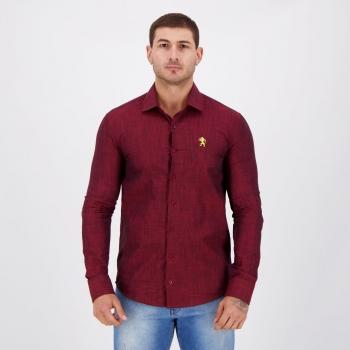 Camisa Social Sport Recife Vermelha Mescla