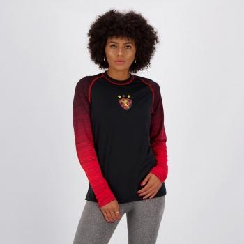 Camisa Sport Protection U.V Camb Feminina Preta